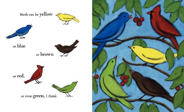 birds can be Review: Birds by Kevin Henkes, Illustrated by Laura Dronzek