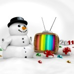 Snowman Watching TV